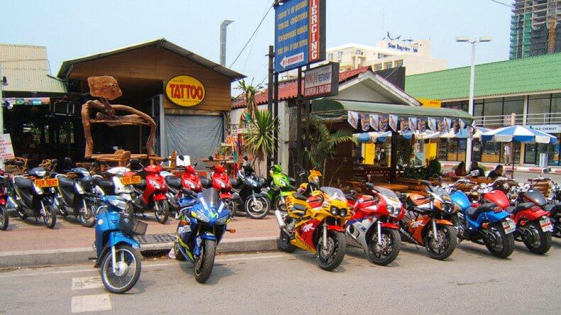 Салон по аренде байка в Тайланде