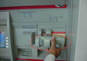 Скиммер на банкоматах
