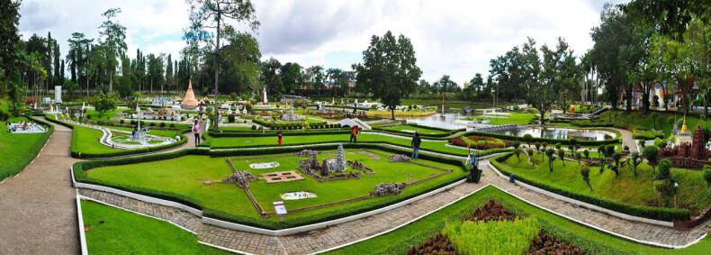 Панорама парка Мини Сиам в Паттайе