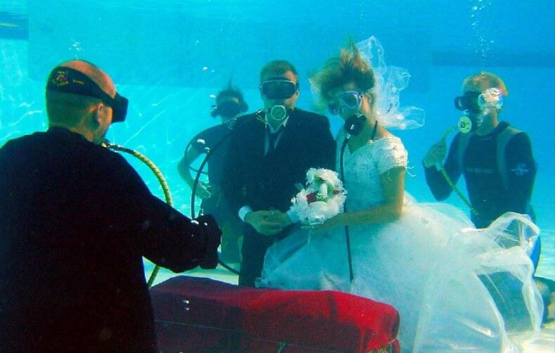 Свадьба в Таиланде под водой