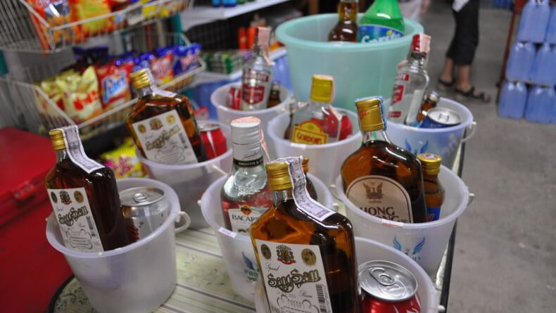 Привезти алкоголь из Тайланда
