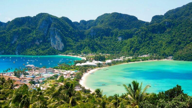 Пляж Тонсай на острове Пхи Пхи