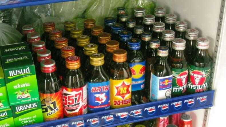 Энергетические напитки Тайланда