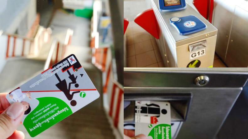 Турникет оплаты надземного метро Бангкока