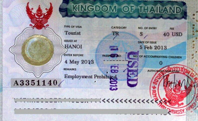 Получение визы в Таиланд