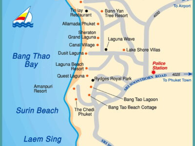 Карта Бангтао и Камала на Пхукете