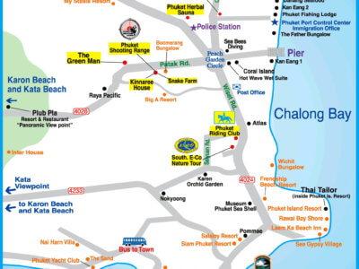 Карта Чалонг и Раваи на Пхукете