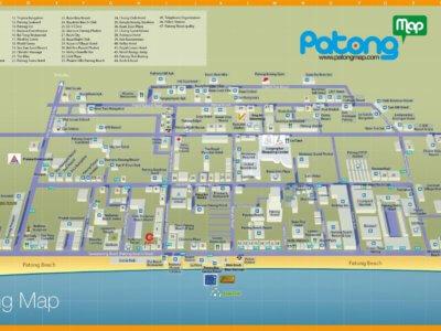 Карта пляжа Патонг на Пхукете