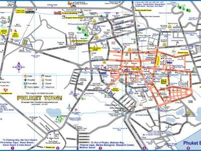 Карта города Пхукет-Таун
