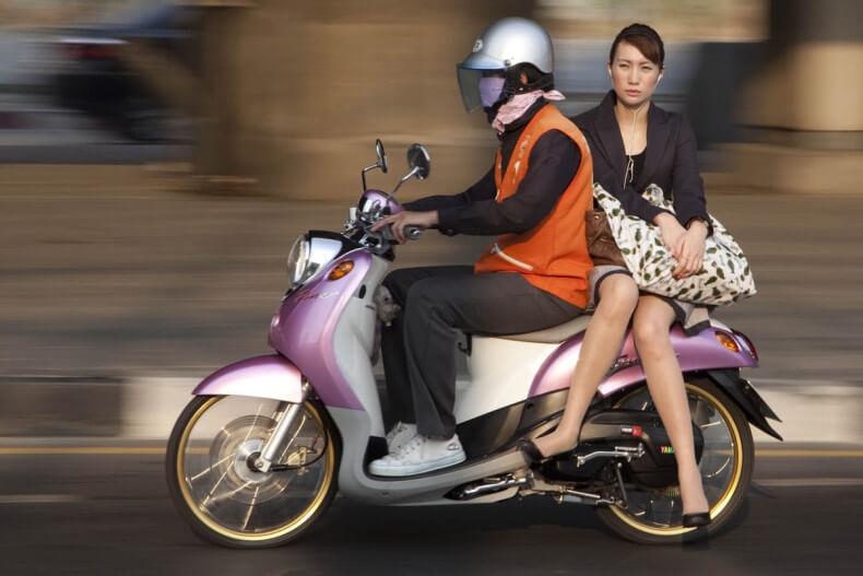 Байк-такси в Тайланде