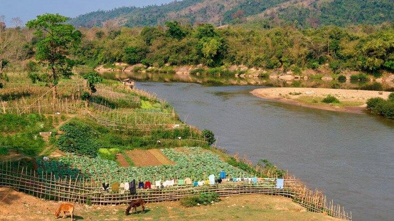 Река Меконг в Таиланде