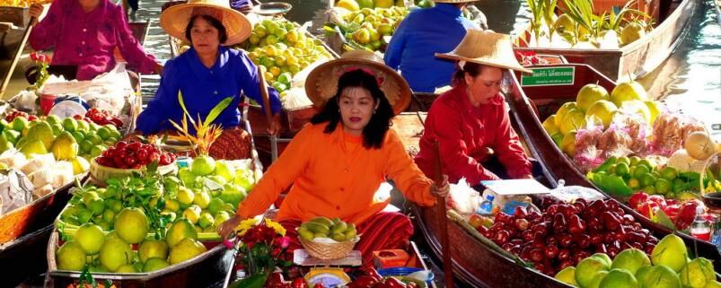 Плавучие рынки Таиланда
