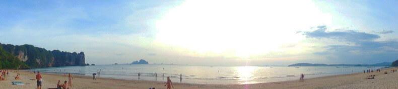 Панорама пляжа Ао Нанг