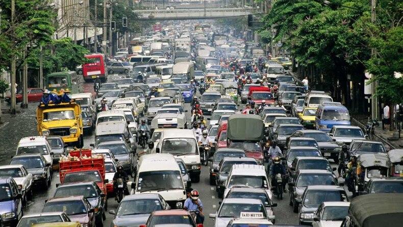 Пробки в Тайланде