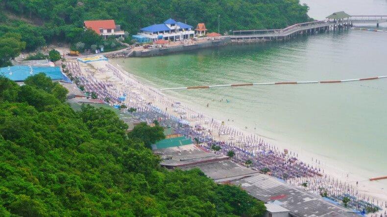 Пляж Таваен на острове Ко Лан