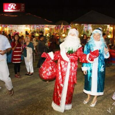 Новый год в русской деревне в Паттайе