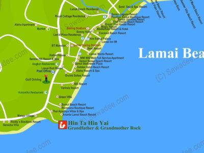 Карта пляжа Ламаи острова Самуи