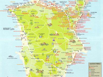 Большая карта острова Самуи