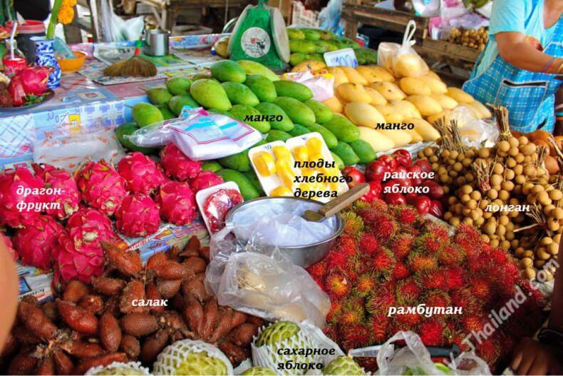 Привезти фрукты изТайланда