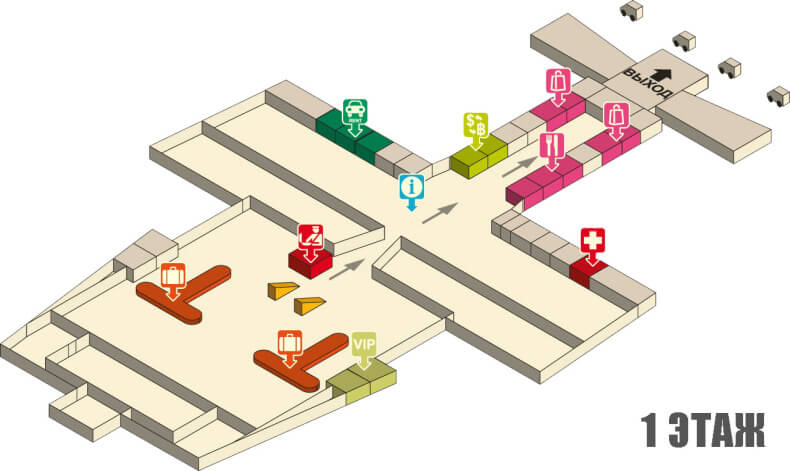 Аэропорт Краби - 1 этаж