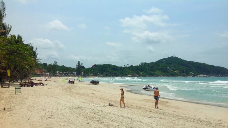 Пляж Хад Рин Нок на острове Панган