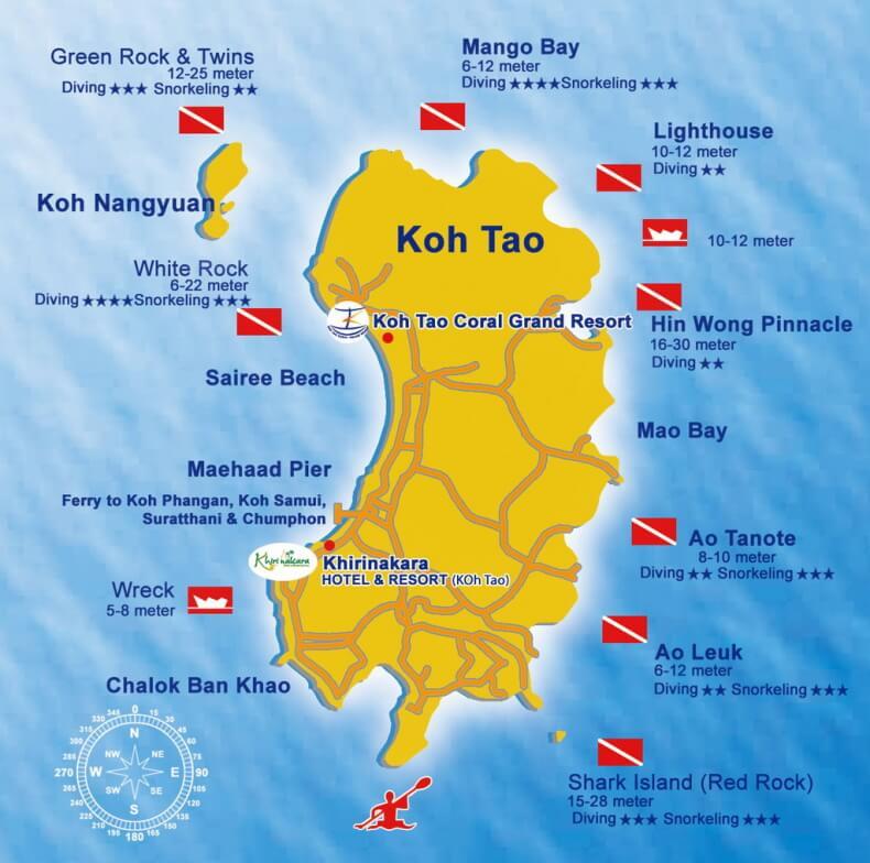 Дайв сайты на острове Ко Тао