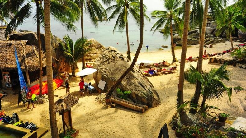 Пляж Джансом на острове Ко Тао