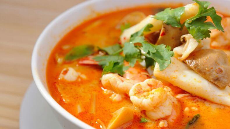Блюда тайской кухни - Том Ям (Tom Yum Gung)