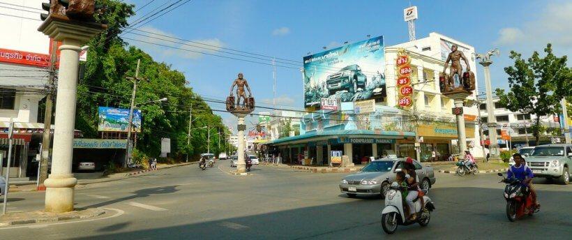 Город Краби Таун в Тайланде