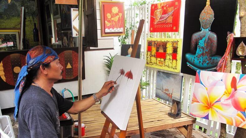 Деревня художников Baan Silapin в Хуа Хине