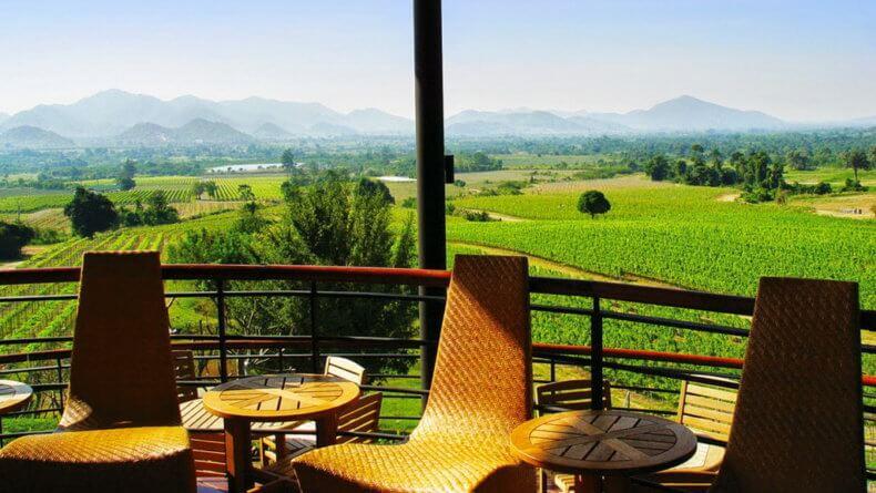 Виноградники Hua Hin Hills Vineyard в Хуа Хине