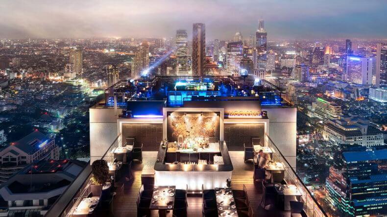 """Смотровые площадки Бангкока - бар на крыше """"Moon Bar"""""""