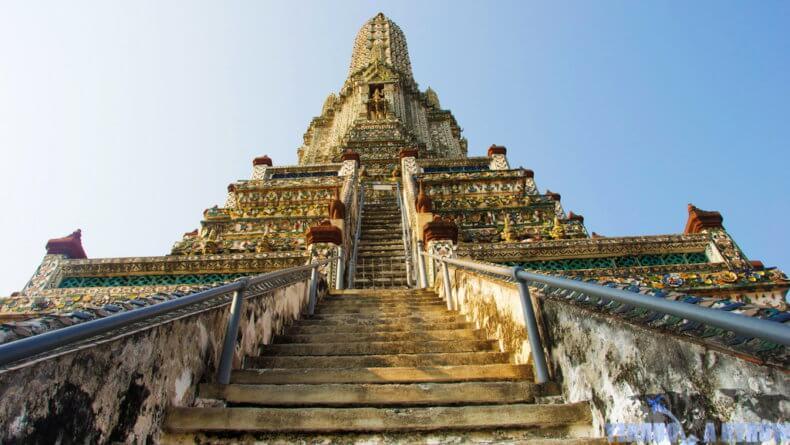 Смотровые площадки Бангкока - храм Wat Arun