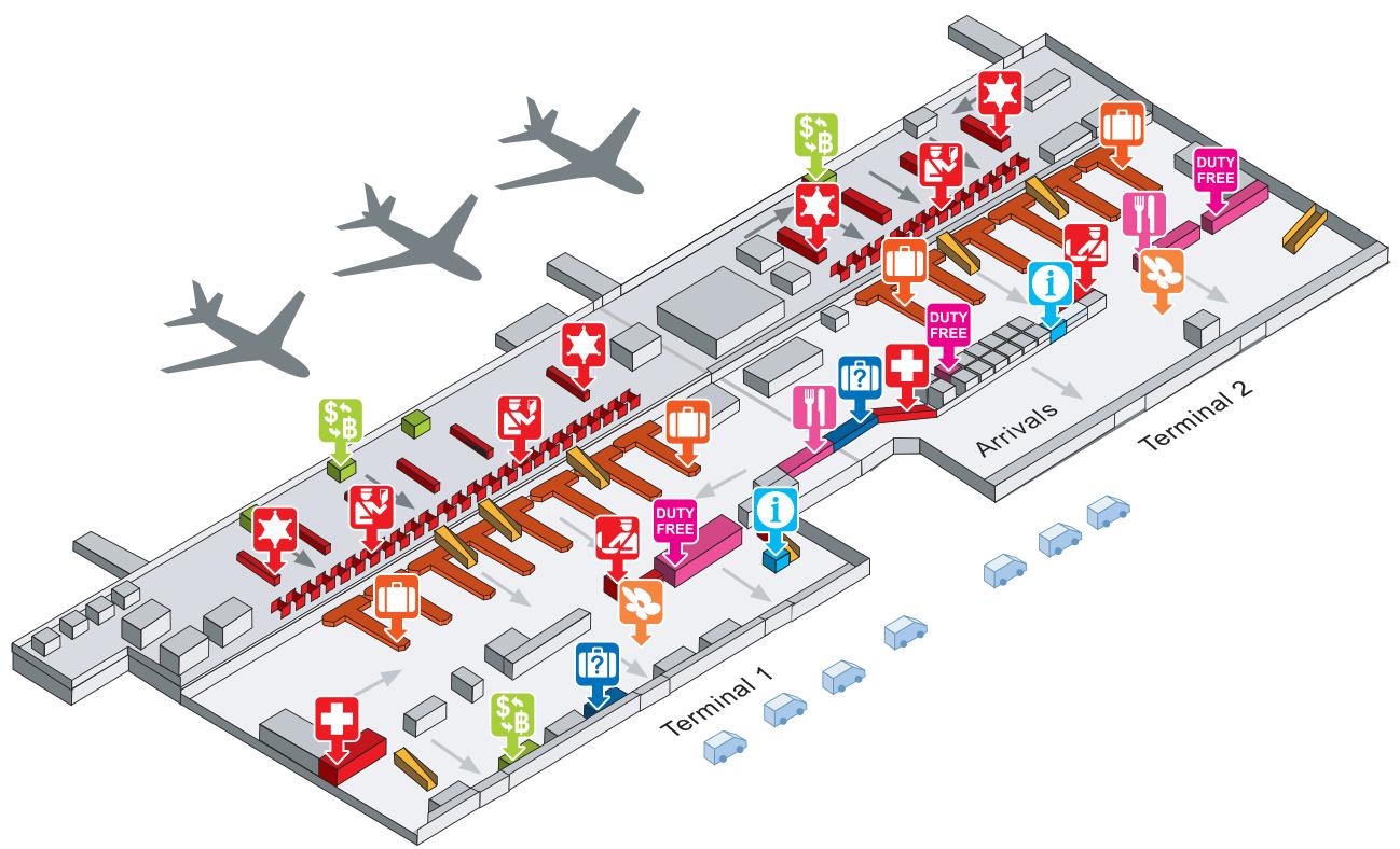 схема аэропорта в бангкоке на международный вылет