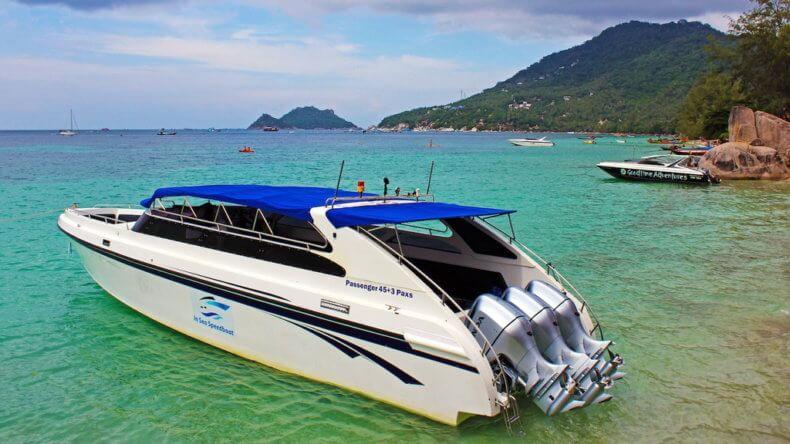 Спид-бот у побережья острова Ко Тао
