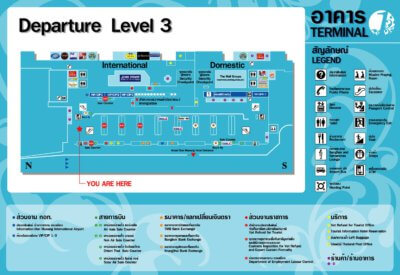 Схема зоны вылета аэропорта Дон Муанг в Бангкоке
