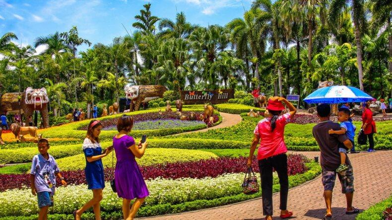 Сад бабочек в парке Нонг Нуч