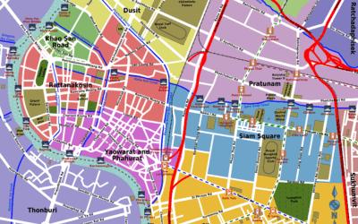 Лучшие районы на карте Бангкока