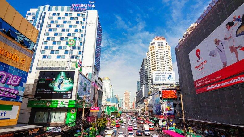 Район Пратунам (Pratunam) в Бангкоке