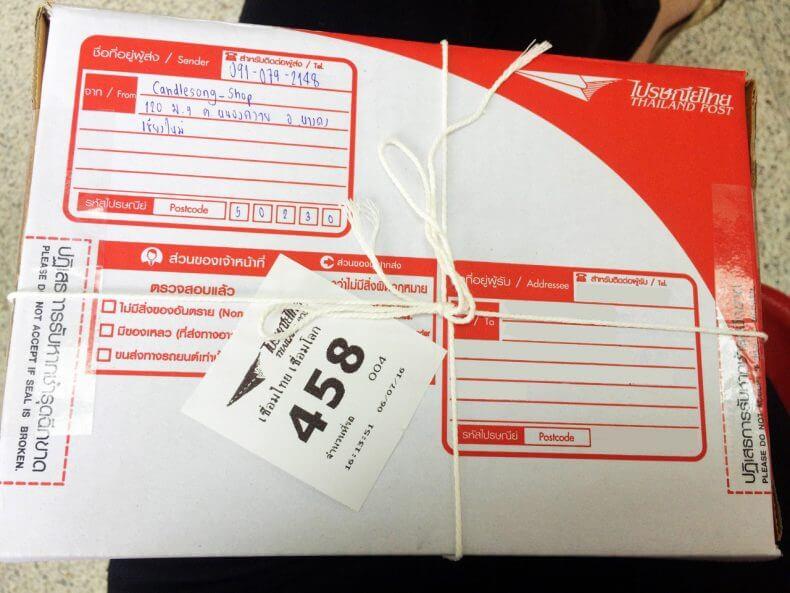 Заполнение адреса на коробке