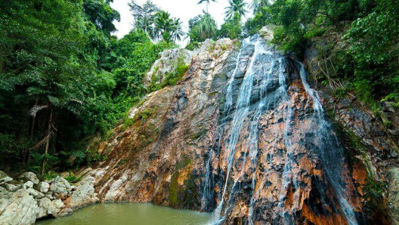 Водопад Waterfall 2 в сафари-парке Намуанг на Самуи