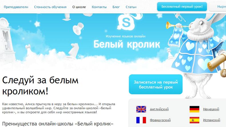 Wrabbit - онлайн-школа английского языка по скайпу