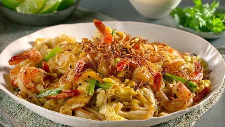 Рисовая лапша Пад Тай с креветками